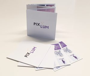 PIXLUM LED Sternenhimmel Prospekt mit Beschreibung der vielfältigen Einsatzmöglichkeiten von PIXLUM als Sternenhimmel, Beleuchtung, Lichtwerbung, etc.