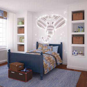 Schlafzimmer mit PIXLUM LED Lichtdekoration