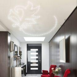 Ein PIXLUM LED Sternenhimmel kombiniert mit einer Spanndecke