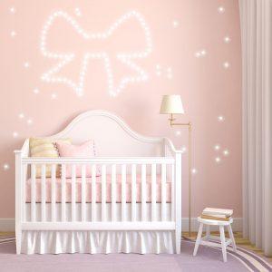 PIXLUM LED Sternenhimmel im Kinderzimmer als Nachtlicht an der Wand