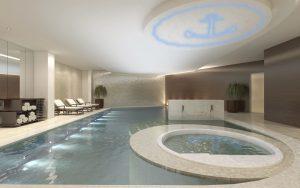 Schwimmbad mit PIXLUM LED Sternenhimmel