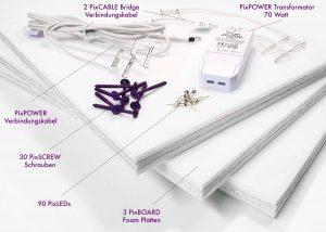 PIXLUM LED-Sternenhimmelbausatz mit 3 stromleitenden Platten und Zubehör
