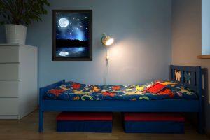 PIXLUM LED Sternenhimmel-im-Kinderzimmer als Wandbild