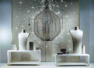 Luxoriöses Schaufenster mit PixLEDs als LED-Lichtwerbung
