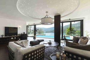 Wohnzimmer mit PIXLUM LEDSternenhimmel
